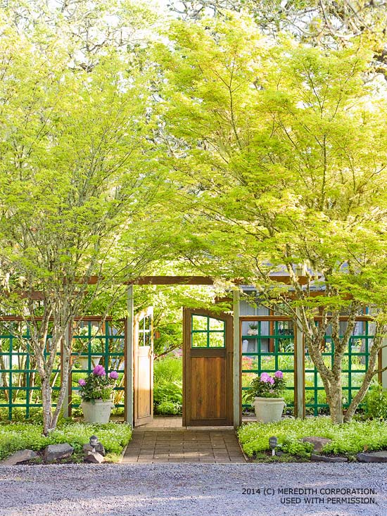 Backyard landscaping ideas for privacy better homes and for Open yard landscaping ideas