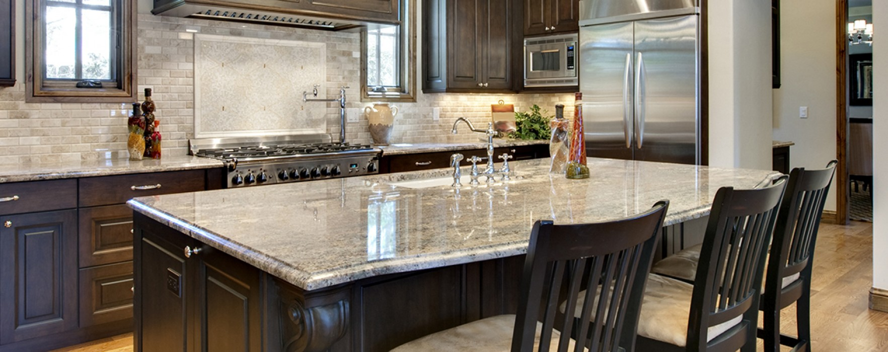 Easy kitchen makeover refinished countertops better for Simple kitchen