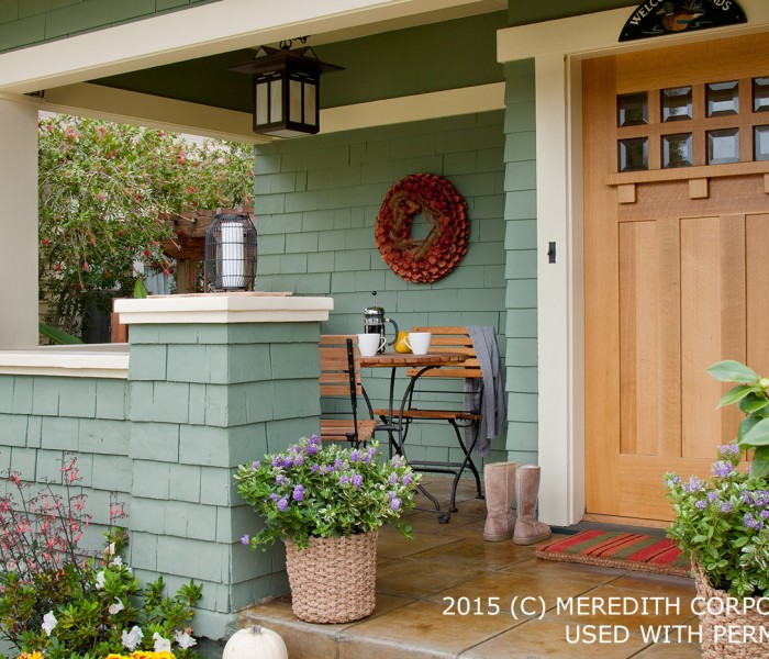Inviting Exterior Doors & Front-Yard Landscaping