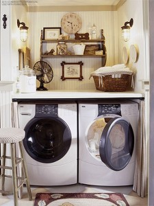Laundry room solutions space saving secrets better homes and gardens real estate life - Lavadero easy ...