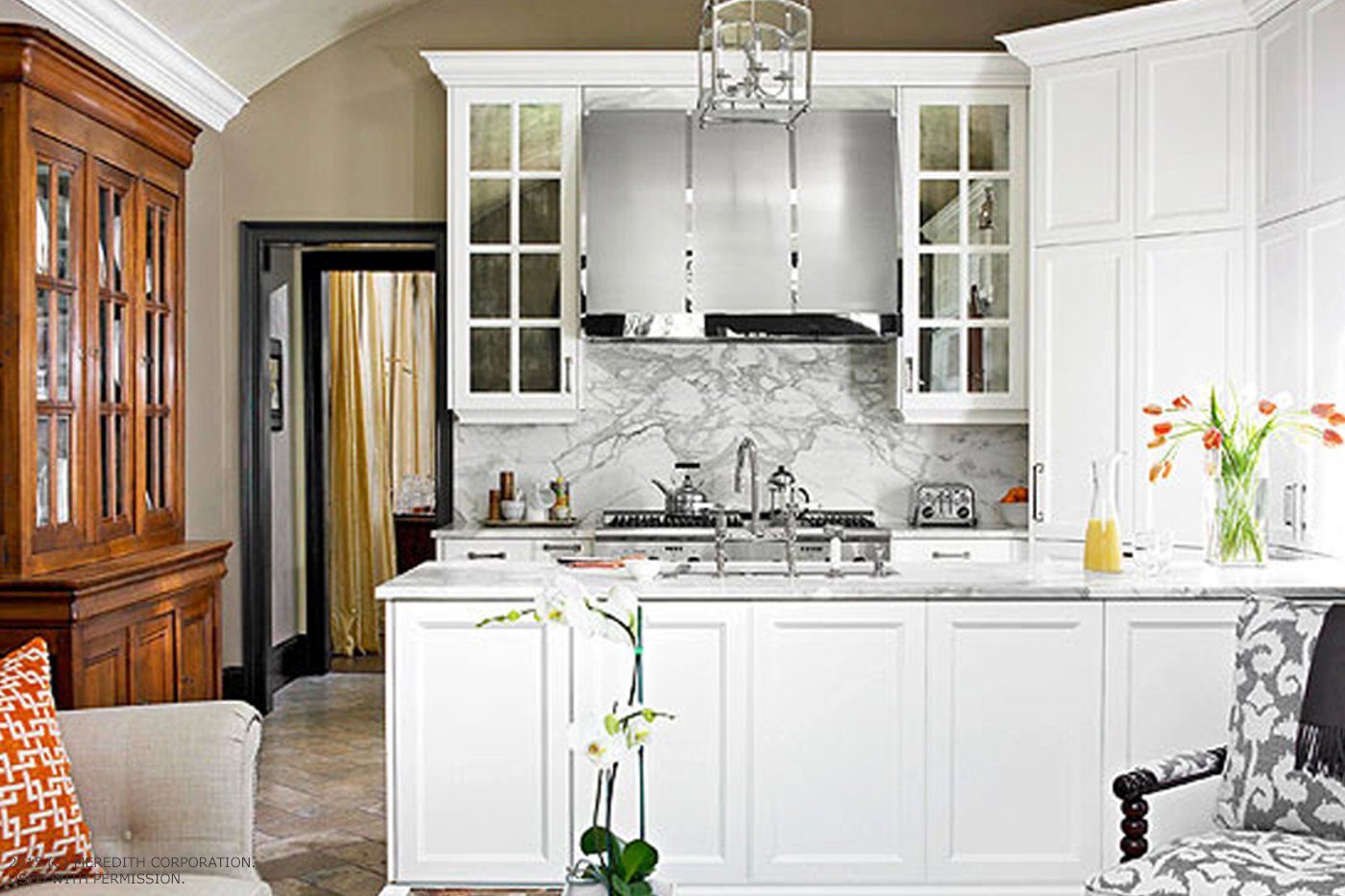 how to impress with a basic white kitchen - better homes and