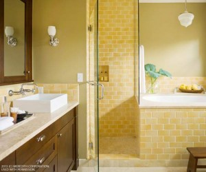 Cheery Bright Yellow Bathroom Designs Better Homes and Gardens