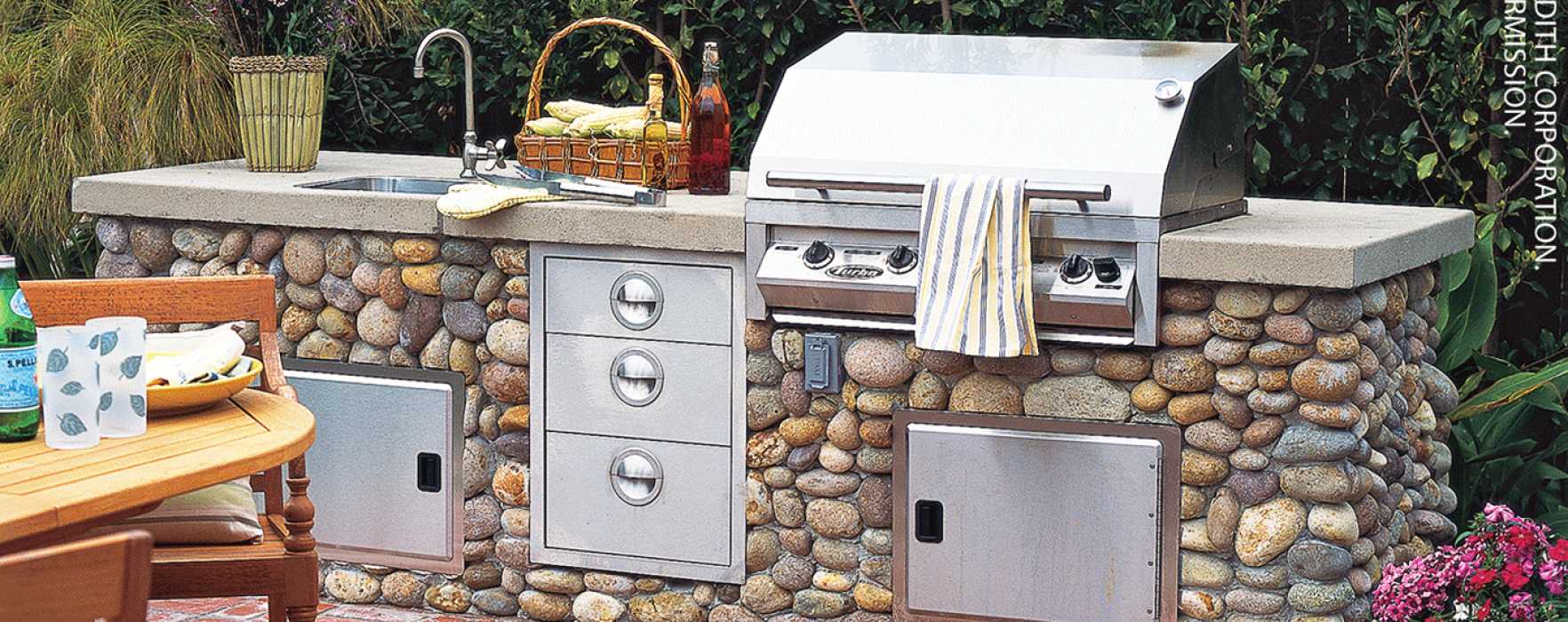 How To Design A Stylish Outdoor Kitchen Better Homes And