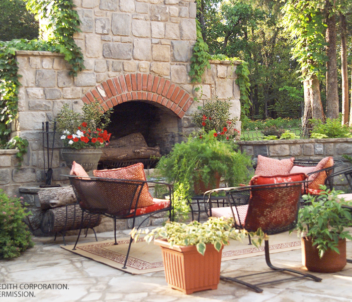 fabulous outdoor fireplace designs - Better Homes And Gardens Archives