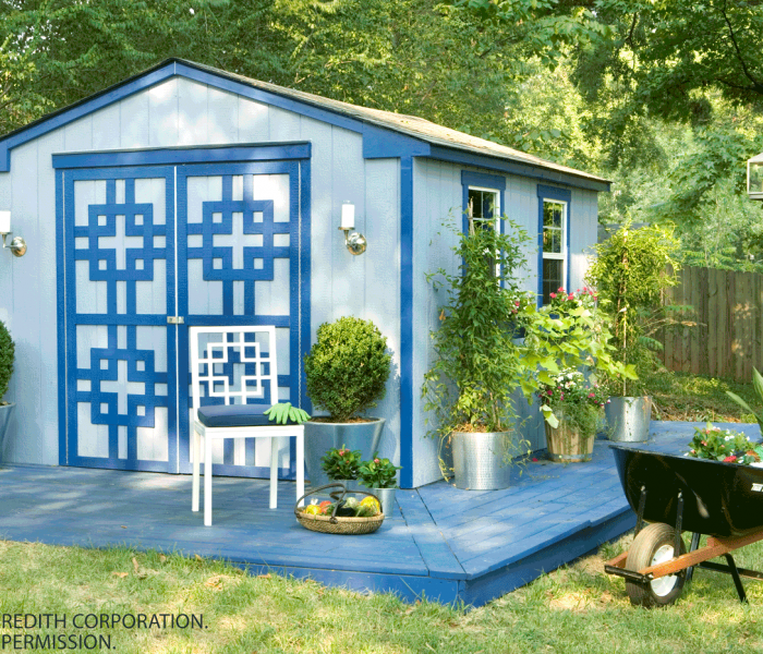 How to Reorganize and Decorate an Outdoor Storage Shed