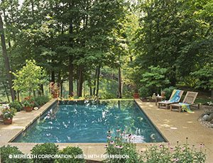Outdoor Jacuzzi and Pool Design Ideas - Better Homes and ... on ideas for sloped backyards, ideas for sloping backyards, ideas for muddy backyards,