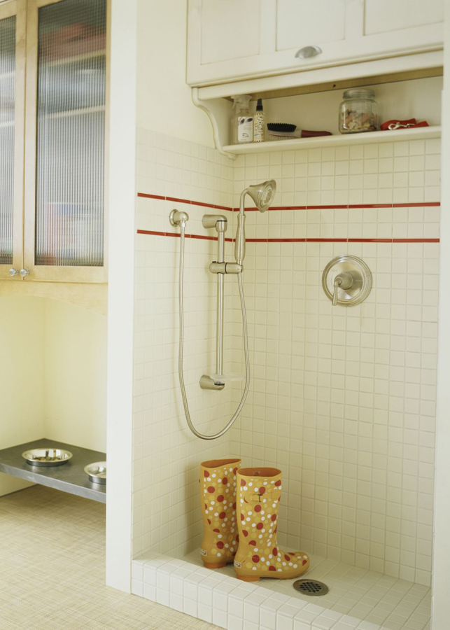 Install a shower in the mudroom