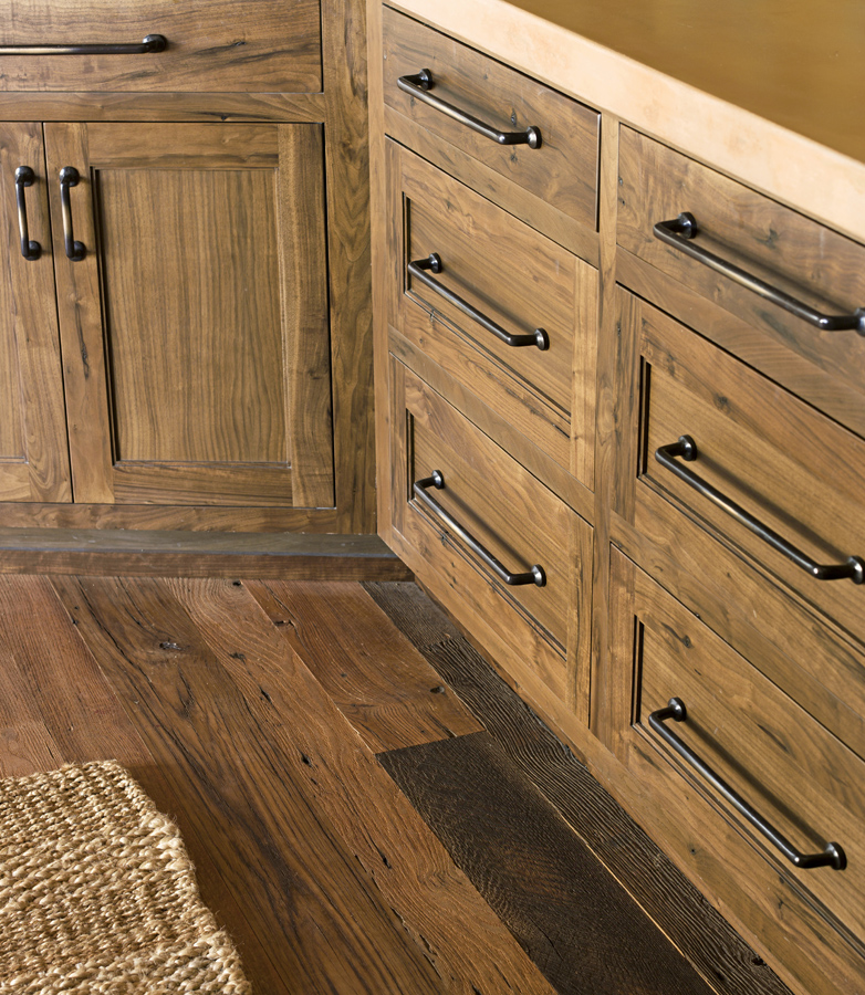 Strip and stain wood cabinets