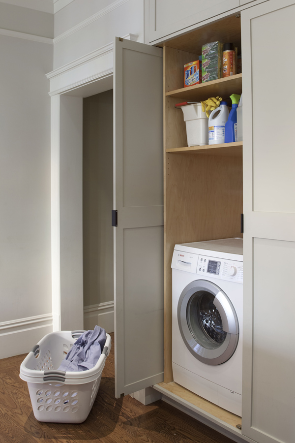 Integrate your laundry in the kitchen